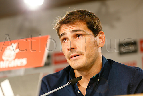 12.07.2015 Madrid, SPAIN. Farewell press conference of goalkeeper Iker Casillas as he gets emotional as has agreed to join Porto in the Protuguese leage for this season. Casillas made 725 appearances for Real since making his debut for the senior team in 1999