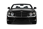Car photography straight front view of a 2015 Bentley Continental GTC  Base 2 Door Convertible