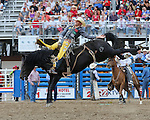 Bobby Mote, Black Hills,  Cody PRCA rodeo, 7/4 perf. Photo by Andy Watson. All Photos (C) Watson Rodeo Photos, INC. Any use must have written Permission.