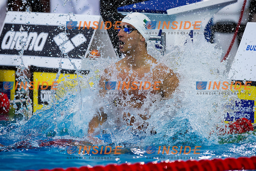 Izzo Giovanni ITA<br /> 50 Freestyle Men Final Gold Medal<br /> LEN 43rd Arena European Junior Swimming Championships<br /> Hodmezovasarhely, Hungary <br /> Day05 10-07-2016<br /> Photo Andrea Masini/Deepbluemedia/Insidefoto
