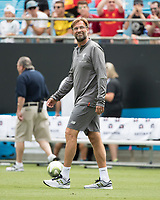 Charlotte, North Carolina - July 22, 2018: Bank of America Stadium, Liverpool vs Borussia Dortmund, International Champions Cup.  Final score Borussia Dortmund 3, Liverpool 1.