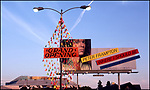 Peter Frampton billboard on La Brea Ave. in Los Angeles in 1979 near A&M Records ( in background) which was previously Charlie Chaplin's studio.