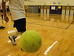 indoor soccer, kids, Estes Park Middle School, Estes Park, Colorado, USA