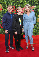 4 January 2020 - Beverly Hills, California - Bart Conner, Dylan Conner and Nadia Comaneci. the 7th Annual Gold Meets Golden Brunch  held at Virginia Robinson Gardens and Estate. Photo Credit: FS/AdMedia