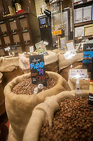 Coffee beans in a supermarket in New York on Friday, June 10, 2016. (© Richard B. Levine)