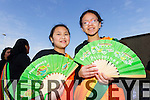 Bianca Mengez and Orla Mahony from the Philippines at Tralee Saint Patrick's day parade on Tuesday.