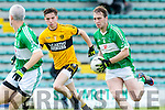 In Action Na Gaeil's Andrew Barry gets away from Emmets Darragh LeahyCastleisland Co-op Junior Premier Football Championship  Semi Final at Austin Stack Park on Sunday Na Gaeil V Listowel Emmets