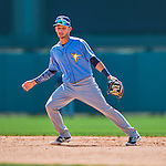14 March 2016: Tampa Bay Rays infielder Bill Pujols, warms up prior to a pre-season Spring Training game against the Atlanta Braves at Champion Stadium in the ESPN Wide World of Sports Complex in Kissimmee, Florida. The Ray fell to the Braves 5-0 in Grapefruit League play. Mandatory Credit: Ed Wolfstein Photo *** RAW (NEF) Image File Available ***