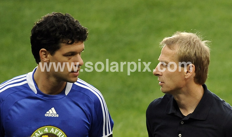 **ALL ROUND PICTURES FROM SOLARPIX.COM**.**SYNDICATION RIGHTS FOR UK AND SPAIN ONLY**.The German Former Formula 1 driver Michael Schumacher at the charity football cup Goal 4 Africa at the Allianz Arena in Munich ( Muenchen ) in Germany..This pic:Captain of the German football national team, Michael Ballack (L), and J¸rgen Klinsmann.JOB REF:6816-CPR/Philipp Guelland  DATE:12_07_08.**MUST CREDIT SOLARPIX.COM OR DOUBLE FEE WILL BE CHARGED* *UNDER NO CIRCUMSTANCES IS THIS IMAGE TO BE REPRODUCED FOR ANY ONLINE EDITION WITHOUT PRIOR PERMISSION*