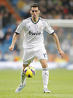 Real Madrid's Alvaro Arbeloa during La Liga match. December 16, 2012. (ALTERPHOTOS/Alvaro Hernandez)