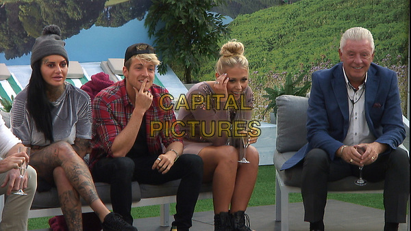 Celebrity Big Brother 2017<br /> Jemma Lucy, Sam Thompson, Amelia Lily and Derek Acorah.<br /> *Editorial Use Only*<br /> CAP/KFS<br /> Image supplied by Capital Pictures