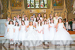 Presentation Convent School 1st communion at St Mary's Church Listowel on Saturday last. :eft to right front row :Enya O Sullivan,Fiona Kelly,Mary Kate Reidy, Mary McDonagh,Caoimhe O Connell,Valerie Guiney,Kaci-jo Nolan, Lisa Mc Carthy...2nd row Bena Costello,Sally O Flynn,Caitlyn Enright,Orlaith O Donovan,Doireann O Mahony,Amy Murphy,Adrianna, Laura Noble,Aisling Hayes...back row Faye Mulvihill,Emily Shaltz,Finola Keane Niamh Canty,Ali Cahill,Shannon Sheehy,Emilija.