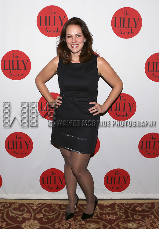 Georgia Stitt backstage at The Lilly Awards Broadway Cabaret'   at The Cutting Room on November 9, 2015 in New York City.