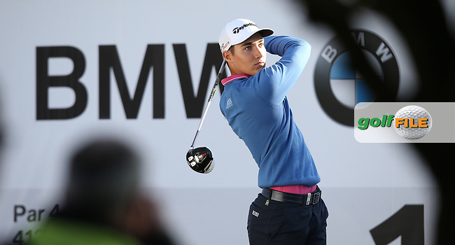Dominic Foos (GER) starts Round One of the 2015 BMW International Open at Golfclub Munchen Eichenried, Eichenried, Munich, Germany. 25/06/2015. Picture David Lloyd | www.golffile.ie