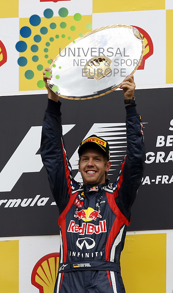 Formel 1 2011,11.Lauf Spa-Francorchamps,26.08.-28.08.11 .Sebastian Vettel (GER#1) Red Bull Racing..Picture:Hasan Bratic/Universal News And Sport (Europe) 28/08/2011.