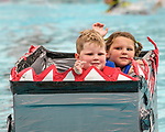 Indianola Park and Recreations hosted cardboard boat races at the Veteran's Memorial Aquatic Center July 22.<br /> <br /> Thiessen Allen-Cosimo<br /> Warner Allen-Cosimo<br /> Boat: The Shark<br /> Helpers<br /> /Amber Allen-Cosimo<br /> Madi Green<br /> LG