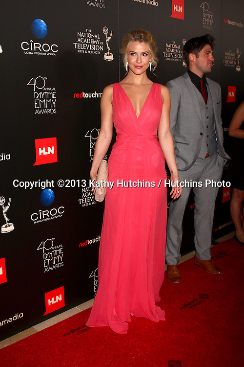 LOS ANGELES - JUN 16:  Linsey Godfrey arrives at the 40th Daytime Emmy Awards at the Skirball Cultural Center on June 16, 2013 in Los Angeles, CA