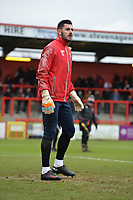 Tom King of Stevenage during Stevenage vs Reading, Emirates FA Cup Football at the Lamex Stadium on 6th January 2018