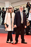 VENICE, ITALY - AUGUST 31: John Landis  and Deborah Nadoolman Landis walk the red carpet ahead of the 'The Shape Of Water' screening during the 74th Venice Film Festival at Sala Grande on August 31, 2017 in Venice, Italy. Photo Marilla Sicilia