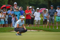 Brooke M. Henderson (CAN) lines up her putt on 2 during round 3 of the 2018 KPMG Women's PGA Championship, Kemper Lakes Golf Club, at Kildeer, Illinois, USA. 6/30/2018.<br /> Picture: Golffile | Ken Murray<br /> <br /> All photo usage must carry mandatory copyright credit (&copy; Golffile | Ken Murray)