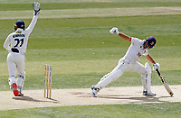 Ryan ten Doeschate of Essex stretches to remain in as Ollie Robinson appeals during Essex CCC vs Kent CCC, Bob Willis Trophy Cricket at The Cloudfm County Ground on 3rd August 2020