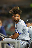Peoria Javelinas shortstop Lourdes Gurriel (21), of the Toronto Blue Jays organization, during an Arizona Fall League game against the Scottsdale Scorpions on October 20, 2017 at Scottsdale Stadium in Scottsdale, Arizona. the Javelinas defeated the Scorpions 2-0. (Zachary Lucy/Four Seam Images)