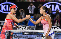 ANA IVANOVIC (SRB), MADISON KEYS (USA)<br /> <br /> TENNIS - GRAND SLAM ITF / ATP  / WTA - Australian Open -  Melbourne Park - Melbourne - Victoria - Australia  - 23 January 2016<br /> <br /> &copy; AMN IMAGES