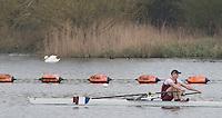 Caversham. Berkshire. UK<br /> Ben REEVES.<br /> 2016 GBRowing U23 Trials at the GBRowing Training base near Reading, Berkshire.<br /> <br /> Monday  11/04/2016 <br /> <br /> [Mandatory Credit; Peter SPURRIER/Intersport-images]