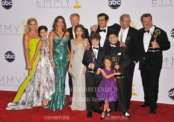 Modern Family cast & producers at the 64th Primetime Emmy Awards at the Nokia Theatre LA Live..September 23, 2012  Los Angeles, CA.Picture: Paul Smith / Featureflash