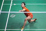 Sayaka Sato of Japan vs Saina Nehwal of India during the YONEX-SUNRISE Hong Kong Open Badminton Championships 2016 at the Hong Kong Coliseum on 24 November 2016 in Hong Kong, China. Photo by Marcio Rodrigo Machado / Power Sport Images