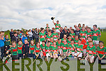 CHAMPIONS: The Crotta O'Neills hiurling team who were crowned 2013 Coiste Chonate Chiarraí, Feile NA nGael Hurling champions 2013 for their first time at Lixnaw on Monday by defeating Ballyduff in the Feile Final,