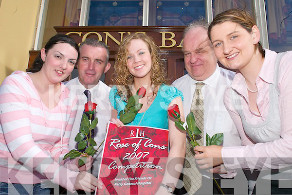 Getting ready for the Rose of Cons which will be held in Con's Bar Castleisland in aid of the Friends of Kerry General Hospital on Thursday night were l-r: Helen Stack Knocknagoshel, Tom McCarthy Con's Bar, Catriona Griffin Castleisland, Giles Casey Con's Bar and Catriona Griffin Glencar