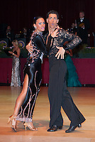 Saverio Loria and Zeudi Zanetti of Italy perform their dance during the Amateur Latin-american competition of the Blacpool Dance Festival that is the most famous event among dance competitions held in the Empress Ballroom of Wintergardens in Blackpool, United Kingdom on Tuesday, 26. May 2009. ATTILA VOLGYI