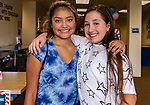 TORRINGTON, CT. 25 August 2018-082518 - From left, Katelynn Case, 13, of Colebrook and Elle Smiley, 11, of Morris enjoy themselves during the Family Arts day at the Warner Theatre Center for Arts Education in Torrington on Saturday afternoon. Bill Shettle Republican-American