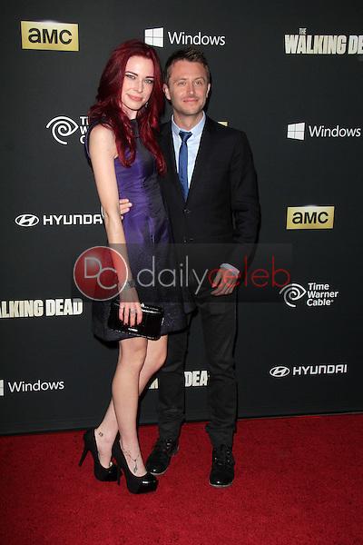 "Chloe Dykstra, Chris Hardwick<br /> at ""The Walking Dead"" Season Four Premiere, AMC Universal Citywalk Stadium 19,  Universal City, CA 10-03-13<br /> Dave Edwards/DailyCeleb.com 818-249-4998"