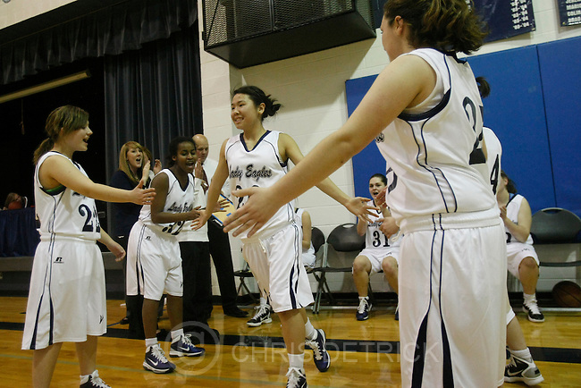 Chris Detrick  |  The Salt Lake Tribune .West Ridge Academy's Tonya Wilson #20 is introduced during the game at West Ridge Academy Thursday January 20, 2011.