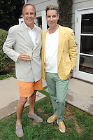 Jay Carlile, Cameron Silver==<br /> LAXART 5th Annual Garden Party Presented by Tory Burch==<br /> Private Residence, Beverly Hills, CA==<br /> August 3, 2014==<br /> ©LAXART==<br /> Photo: DAVID CROTTY/Laxart.com==