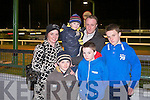 FUN TIME: Having a fun time at the CBS the Green Buster Night at the Dogs at the Kingdom Greyhound Stadium on Saturday front l-r: Ben and Cian Donnellan. Back l-r: Angela Austin Jnr, Austin and Sean Donnellan.