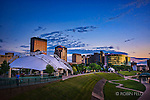 Dayton Ohio skyline photo summer evening showing Riverscape