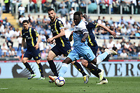 Felipe Caicedo of Lazio scores goal of 1-2 during the Serie A 2018/2019 football match between SS Lazio and AC Chievo Verona at stadio Olimpico, Roma, April, 20, 2019 <br /> Photo Antonietta Baldassarre / Insidefoto