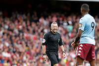 Referee, Jonathan Moss during the Premier League match between Arsenal and Aston Villa at the Emirates Stadium, London, England on 22 September 2019. Photo by Carlton Myrie / PRiME Media Images.