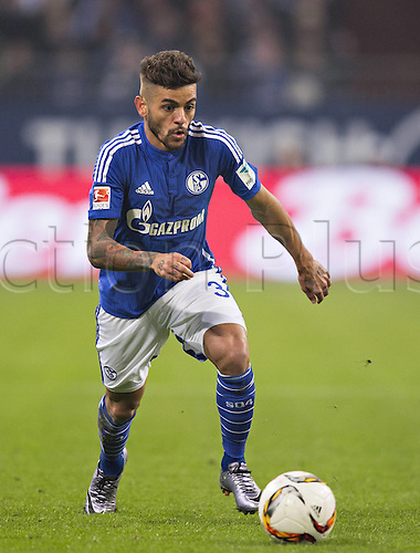 24.01.2016. Gelsenkirchen, Germany. German Bundesliga soccer match between FC Schalke 04 and Werder Bremen in the Veltins Arena. Junior Caicara (S04)