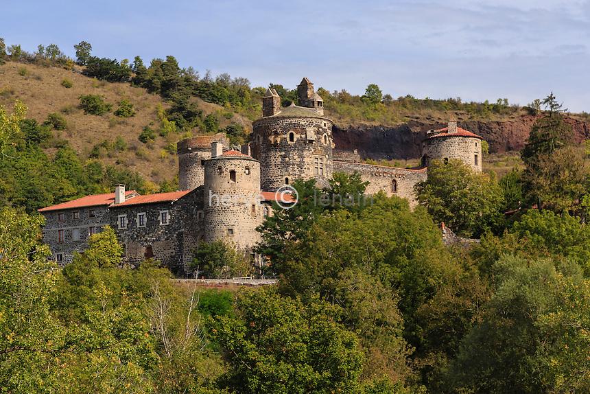 France, Haute-Loire (43), Saint-Vidal, le  château