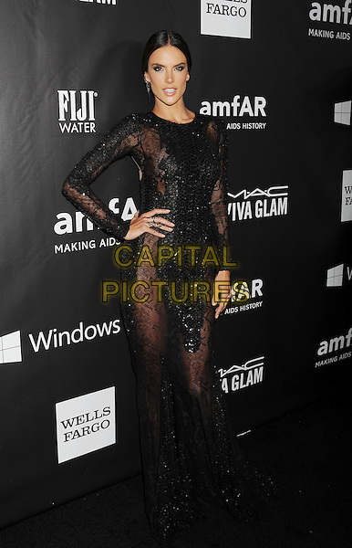 HOLLYWOOD, CA- OCTOBER 29: Model Alessandra Ambrosio  attends amfAR LA Inspiration Gala honoring Tom Ford at Milk Studios on October 29, 2014 in Hollywood, California.<br /> CAP/ROT/TM<br /> &copy;TM/ROT/Capital Pictures