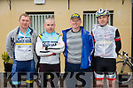 At The Kerry Crusader cycle club in association with Orbis scenic challenge on Sunday Starting at the Listowel community centre were Liam Daly, Con Flynn, Paul Hayes,  Pat Joy