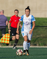 Boston, MA - Saturday August 19, 2017: Camila Martins Pereira during a regular season National Women's Soccer League (NWSL) match between the Boston Breakers (blue) and the Orlando Pride (white/light blue) at Jordan Field. Orlando Pride defeated Boston Breakers, 2-1.