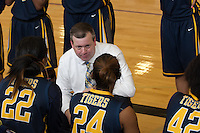 Stony Point coach Keith Allen talks to his players Saturday against Cedar Ridge.