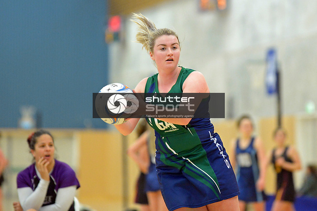NELSON, NEW ZEALAND - JUNE 24: Netball, Jacks Pro  v Prices Pharmacy Gold, Saxton, June 24, 2017, Nelson, New Zealand. (Photo by: Barry Whitnall Shuttersport Limited)