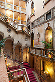 ITALY, Venice. A view of the staircase in the Lobby of the Hotel Danieli.