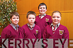 Josh Murphy, Eoin Collins, Kevin O'Connor and Norma Murphy from Knockaclarig National School, Brosna Tralee at the Tralee Credit Union Primary Schools Quiz, held at Ballyroe Heights Hotel on Sunday